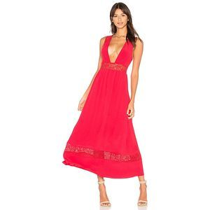 Revolve X Majorelle Pinewood Maxi Dress Red S